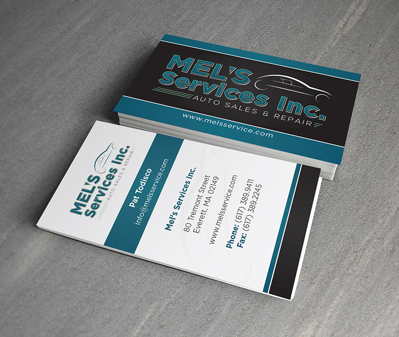 Mel's Services Business Card