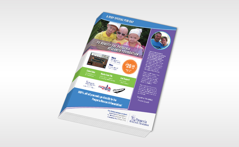 Progeria Research Foundation Flyer